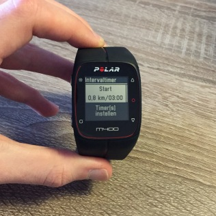Polar M400 intervaltimer