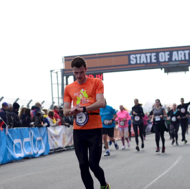 De finish van de Zandvoort Circuit Run 12km