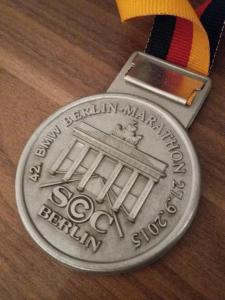 Medaille Berlijn Marathon 2015