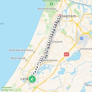 Marathontraining: 32km duurloop van Leiden naar Haarlem
