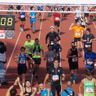 De finish in het Olympisch Stadion