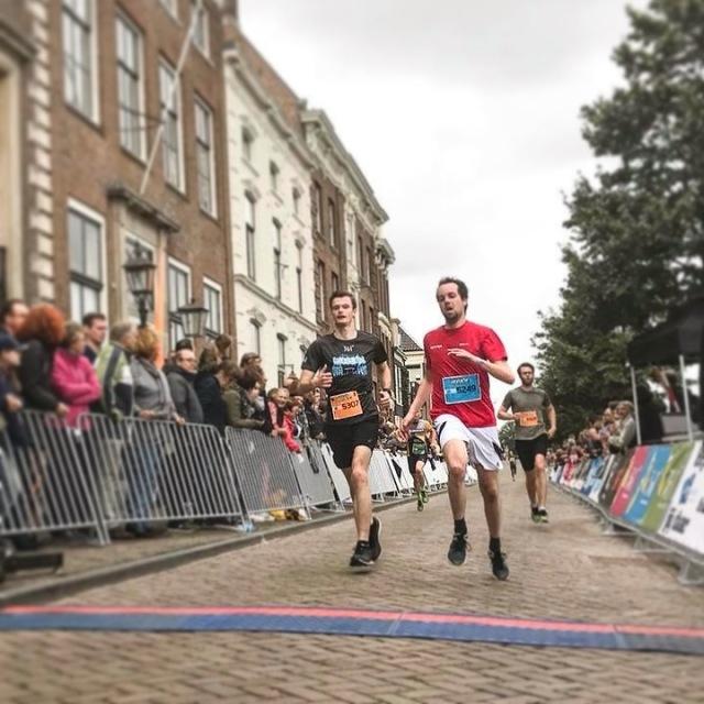 Finishfoto Grachtenloop Haarlem 2018