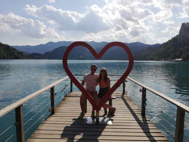 Op vakantie bij Lake Bled in Slovenië